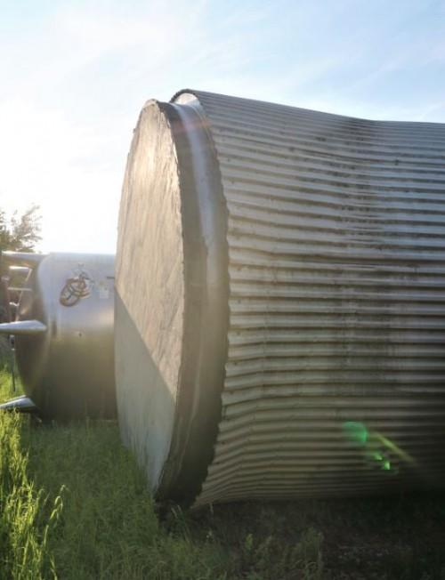Behälter 125.000 Liter aus V2A, isoliert