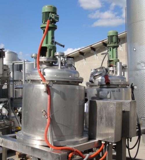Behälter 200 Liter aus V2A, gebraucht, temperierbar, isoliert