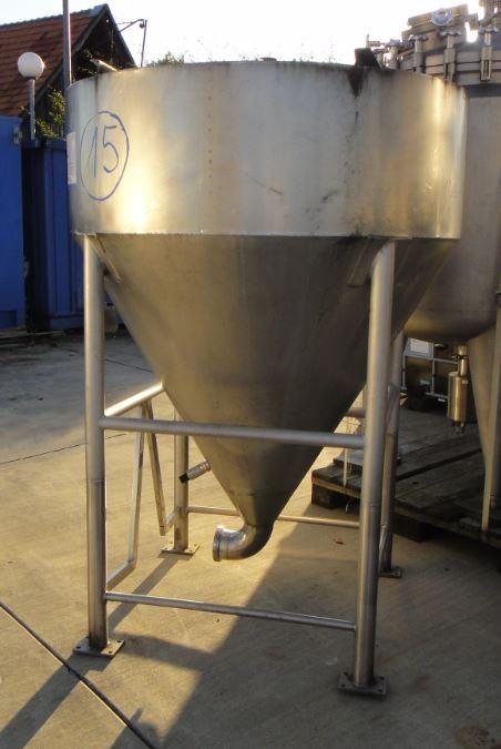 Behälter 1.500 Liter aus V4A, gebraucht, einwandig