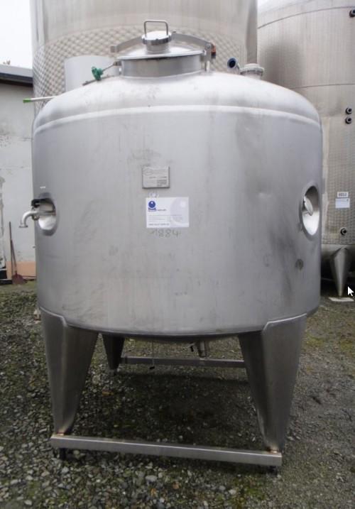 Behälter 3.000 Liter aus V2A, gebraucht, temperierbar, isoliert