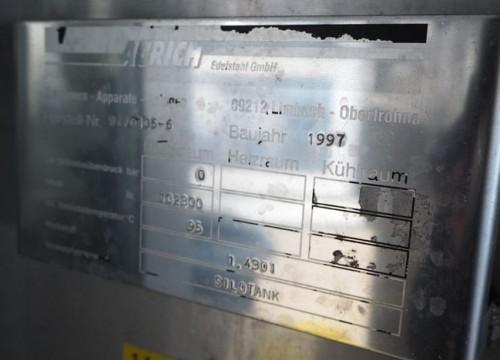 Behälter 102.800 Liter aus V2A, isoliert, gebraucht,