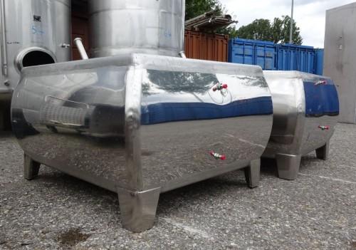 Behälter 1.000 Liter aus V2A, gebraucht, einwandig