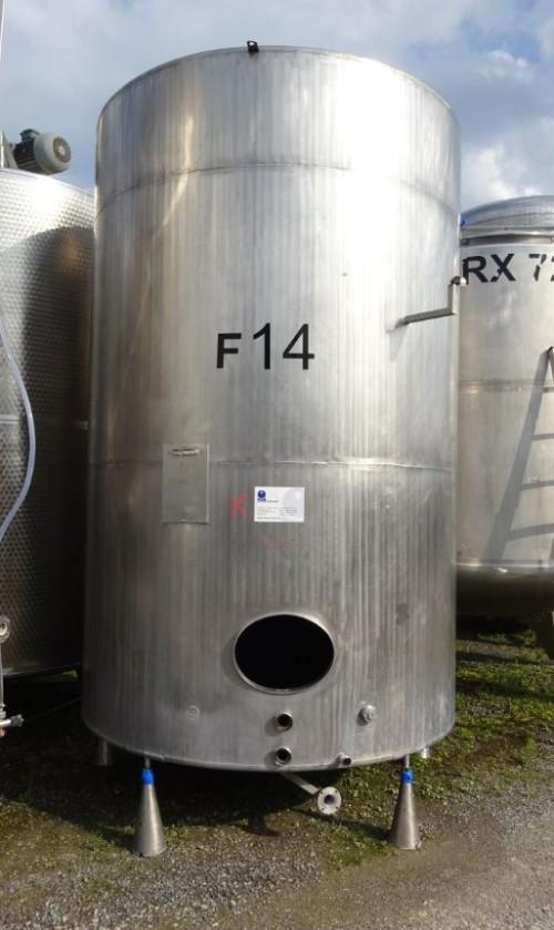 Behälter 10.000 Liter aus V2A, gebraucht, einwandig