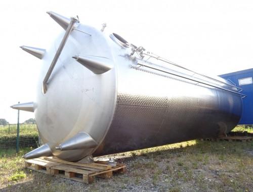 KZE-Behälter 49.400 Liter aus V2A, gebraucht, einwandig