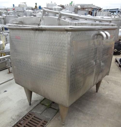 Wanne 1.500  Liter aus V2A, gebraucht, einwandig