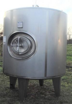 Druckbehälter 3.500 Liter aus V4a isoliert