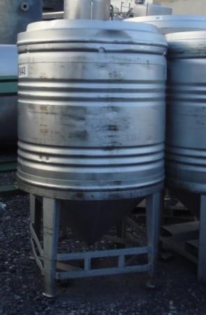 Container 800 Liter aus V2a, einwandig, gebraucht