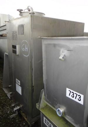 Behälter 1.700 Liter aus V2A, einwandig, gebraucht