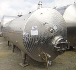 Behälter 12.000 Liter aus V2A, einwandig, gebraucht