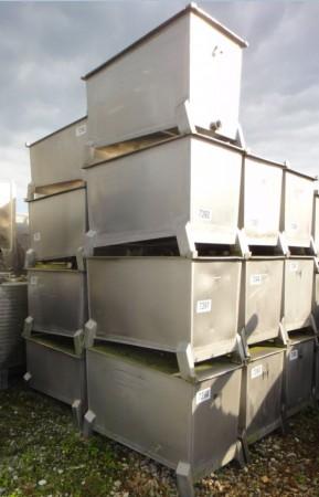 Behälter 350 Liter aus V2A, einwandig, gebraucht