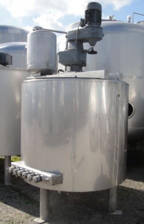 Behälter 1.100 Liter aus V4A, gebraucht, temperierbar, isoliert