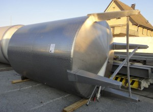 Behälter 14.000 Liter aus V2A, gebraucht, einwandig