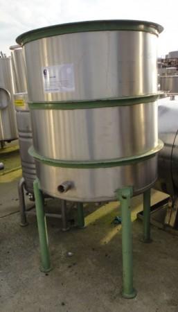 Behälter 600 Liter aus V2A, gebraucht, einwandig