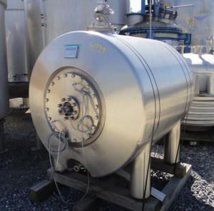Druckbehälter 1.220 Liter aus V4A, gebraucht, isoliert, temperierbar