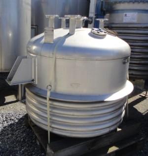 Druckbehälter 1.200 Liter aus V4A, gebraucht, temperierbar