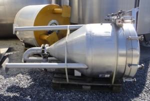 Druckbehälter 810 Liter aus V2A, gebraucht, einwandig