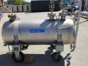Durckbehälter 630 Liter aus V4A, gebraucht, einwandig