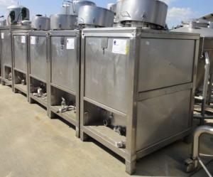 Behälter 490 Liter aus V2A, gebraucht, temperierbar, isoliert