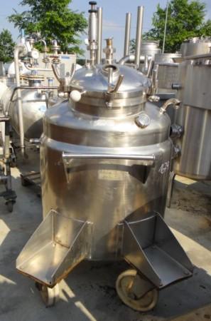 Behälter 385 Liter aus V4A, gebraucht, temperierbar, isoliert