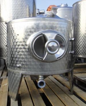 Behälter 320 Liter aus V2A, ungebraucht, temperierbar, einwandig