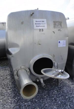 Behälter 4.800 Liter aus V2A, gebraucht, einwandig