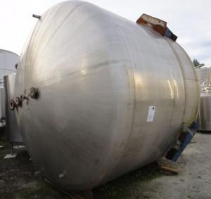 Behälter 21.500 Liter aus V4A, gebraucht, einwandig, temperierbar