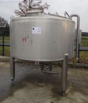 Behälter 3.000 Liter aus V2A, gebraucht, isoliert