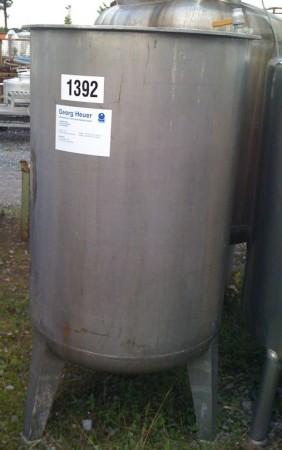Behälter 550 Liter aus V4A, gebraucht, einwandig