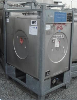 Container 1.000 Liter aus V2A, gebraucht, einwandig