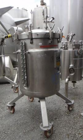 Druckbehälter 312 Liter aus V4A, gebraucht, temperierbar