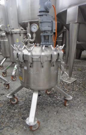 Druckbehälter 192 Liter aus V4A, gebraucht, temperierbar