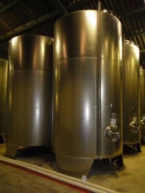 Behälter 14.900 Liter aus V2A, gebraucht, einwandig
