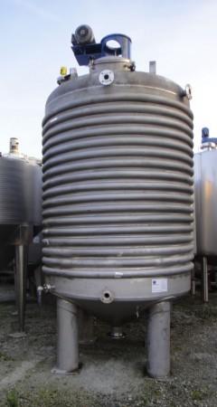 Behälter 8.800 Liter aus V4A, gebraucht, temperierbar