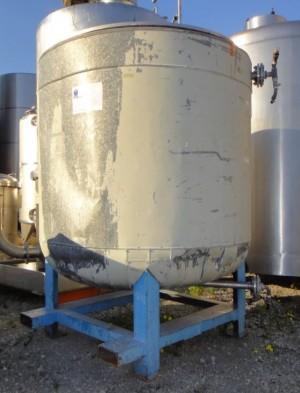 Behälter 1.860 Liter aus V4A, gebraucht, temperierbar, isoliert