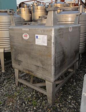 Container 960 Liter aus V2A, gebraucht, einwandig