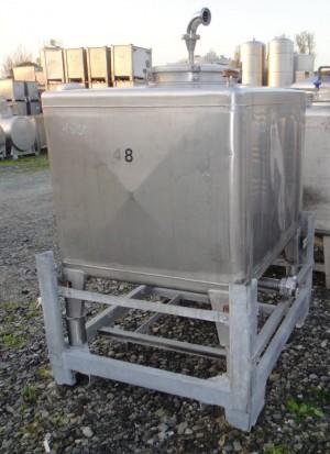 Container 800 Liter aus V2A, gebraucht, einwandig