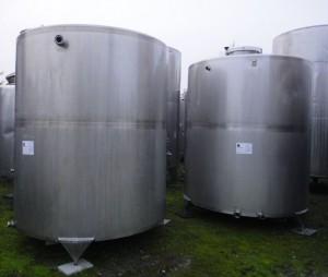 Behälter 8.000 Liter aus V2A, gebraucht. einwandig