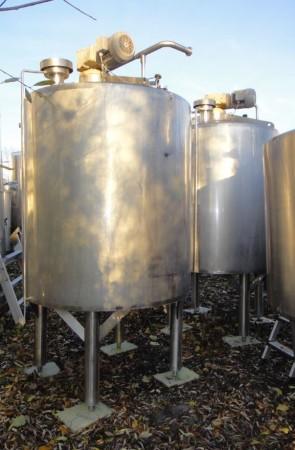 Behälter 1.500 Liter aus V2A, gebraucht, temperierbar, isoliert