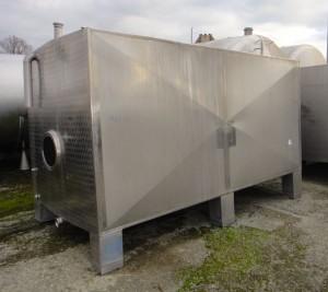 Behälter 8.500 Liter aus V2A, gebraucht, einwandig