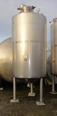 Behälter 3.200 Liter aus V2A, gebraucht, temperierbar, isoliert