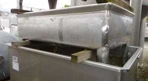 Behälter 800 Liter aus V4A, gebraucht, einwandig