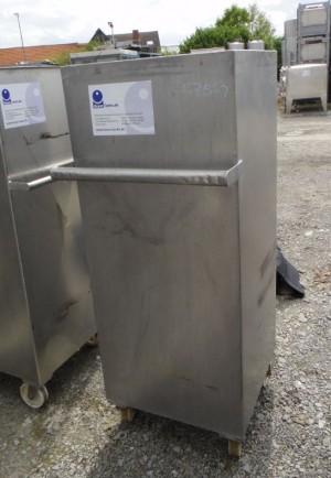 Behälter 300 Liter aus V2A, gebraucht, isoliert