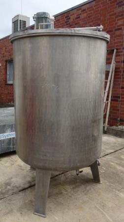 Behälter 1.300 Liter aus V2A, gebraucht, einwandig