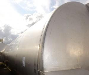 Behälter 50.350 Liter aus V2A, gebraucht, einwandig