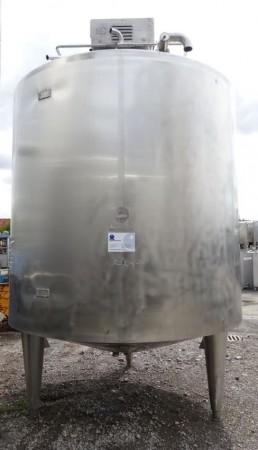 Behälter 10.000 Liter aus V2A, gebraucht, temperierbar, isoliert
