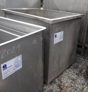 Wanne 1.000 Liter aus V2A, gebraucht, einwandig