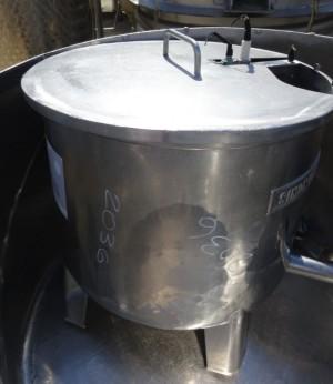 Behälter 100 Liter aus V2A, gebraucht, einwandig