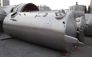 Doppelkammertank 8.000 Liter aus V2A, gebraucht, einwandig