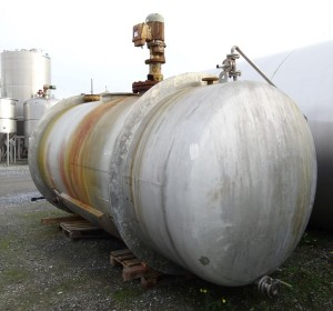 Behälter 10.100 Liter aus V2A, gebraucht, temperierbar, einwandig