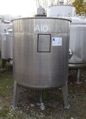 Behälter 1.500 Liter aus V2A, gebraucht, einwandig